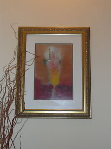 Original hal schwarze oil on paper painting prof framed for Atlanta oil painting artists