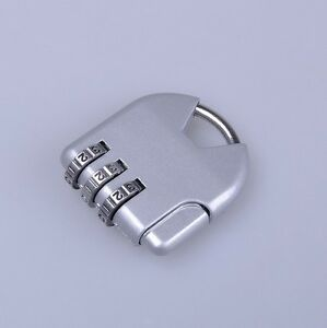 Silver-3-dial-Combination-Lock-Luggage-Travel-Padlock