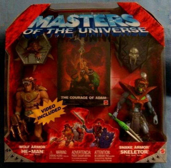 WOLF ARMOR HE-MAN SNAKE ARMOR SKELETOR MASTERS OF THE UNIVERSE MOTU MATTEL