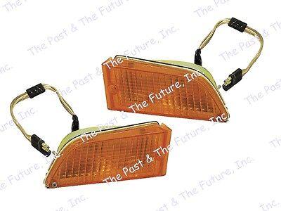 71 72 Mustang Parking Lamp Light Assembly Pair RH + LH Right + Left MSPL7173-1P