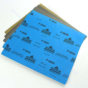 5-sheets-Sandpaper-sand-paper-Waterproof-Paper-9-034-x11-034-Wet-Dry-Silicon-Carbide