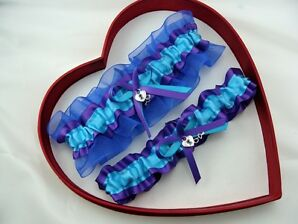 NEW SEXY Bridal Wedding Garter Turquoise/Purple/Royal Blue Prom  GetTheGoodStuff