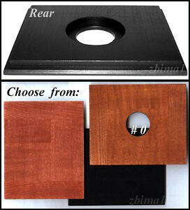 "Wooden Lensboard 4.6"" x 5.6"" for Full Plate Camera 6.5""x 8.5""- 35mm hole,or more"