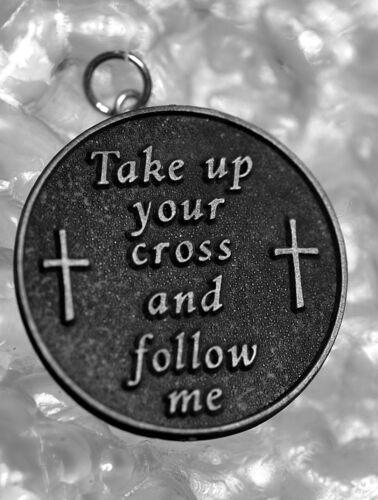 Authentique Véritable Argent Sterling Prendre votre croix et suivez-moi Jésus CHARM