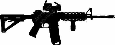 AR15 M4 W/Scope Silhouette High Quality Decal