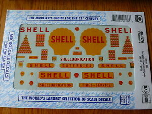 Microscale-O-48-576-Shell-Oil-Service-Station-Signs-1935-1960-2-Sheets