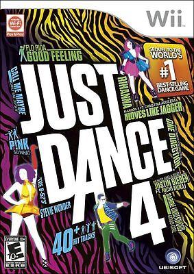 Just Dance 4 GAME NINTENDO Wii & WII U JD JD4