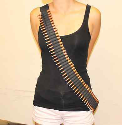Tactical Rifle  65 Shell Bandolier Ammo Belt Sling Black fit most rifle ammo