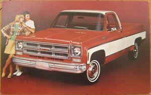 1970s-Car-Chrome-Advertising-Postcard-GMC-Pickup-Truck