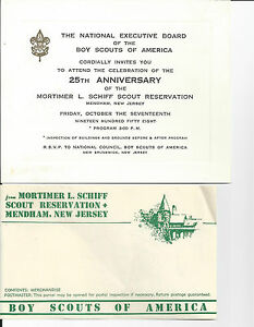 Lot i BOY SCOUT CINDERELLAS SEALS AND LABELS- 1958 INVITATION AND STATIONARY