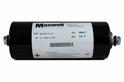 Maxwell 2600F 2.5V Supercap; 2600 Farad 2.5 Volt Super/Ultra Capacitor Audio