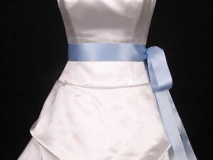 Light-Blue-Double-Faced-Satin-Ribbon-Sash-Bridal-Wedding-Bridesmaid-Brand-New