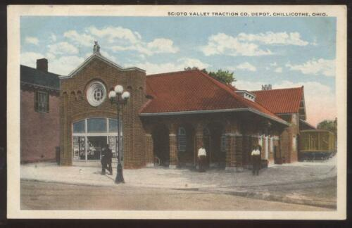 POSTCARD Scioto Trolley Station CHILLICOTHE, OhioOH