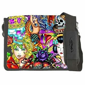 ED-HARDY-KIDS-LEO-ORIGINAL-COLLAGE-TATTOO-PRINT-LAPTOP-MESSENGER-RARE-FREE-SHP