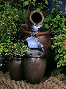 Image Is Loading Jug Pot Water Feature Fountain Vintage Style Cascade