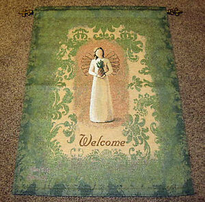Willow Tree ~ Pineapple Welcome Angel Tapestry Wall Hanging