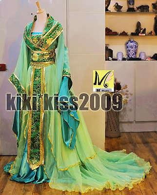 China Kimono Lilac Fairy Girl's Green Dress Cosplay Custom-Made Han Fu Hand Made
