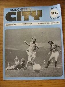 16101974 Manchester City v Arsenal  Fold Small Mark Team Changes Item In - Birmingham, United Kingdom - Returns accepted within 30 days after the item is delivered, if goods not as described. Buyer assumes responibilty for return proof of postage and costs. Most purchases from business sellers are protected by the Consumer Contr - Birmingham, United Kingdom
