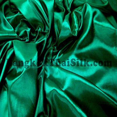 "EMERALD GREEN 60"" TAFFETA FAUX SILK FABRIC GR8 For BRIDESMAID DRESS DRAPE SKIRT"