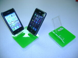 LOT 5 NEW STAND HOLDER CELL PHONE DISPLAY 2 in 1 GREEN