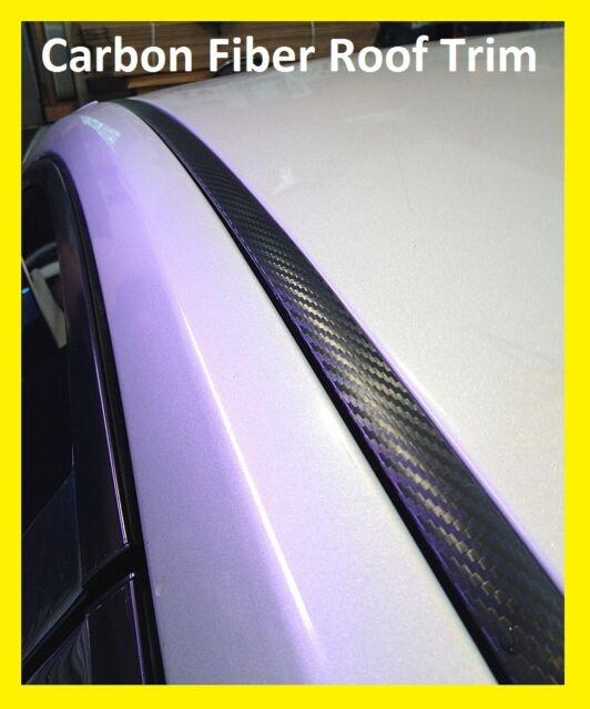 BLACK CARBON FIBER ROOF TOP TRIM MOLDING KIT For SUBARU Vehicles