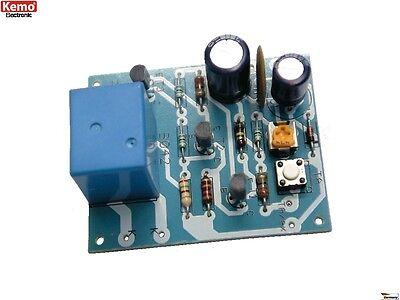S162 - Zeitschalter Timer 12V= ca. 2 Sek - 5 Min Kemo B042 Bausatz