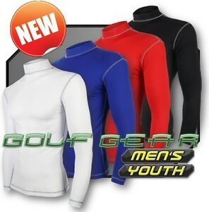 Mens-Boys-Golf-Compression-Base-Layer-Long-Sleeve-Thermal-Under-Sport-Top-Shirt