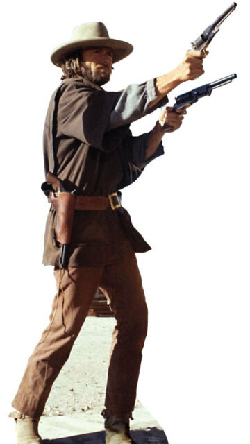 CLINT EASTWOOD THE OUTLAW JOSEY WALES LIFESIZE STANDUP STANDEE CUTOUT POSTER NEW