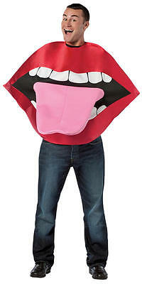 LIPS & TONGUE adult mens womens funny mouth teeth halloween costume