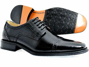 New-Mens-Dress-Shoes-Premium-Genuine-Leather-Oxford-Lace-Up-Shoes