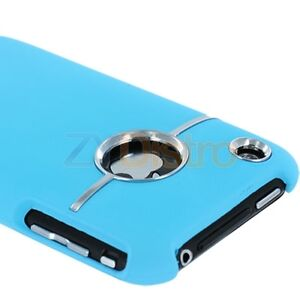DELUXE-BABY-BLUE-COVER-CASE-W-CHROME-FOR-iPHONE-3G-S-3GS
