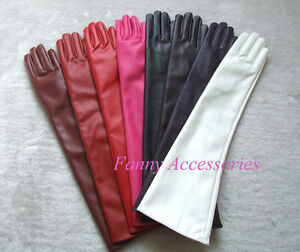 Ladies-Opera-Evening-Party-Faux-Leather-PU-Over-Elbow-Long-Gloves-20-034