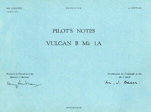 PILOT-039-S-NOTES-AVRO-VULCAN-B-Mk-1A-R-A-F-NUCLEAR-V-BOMBER-209-pages