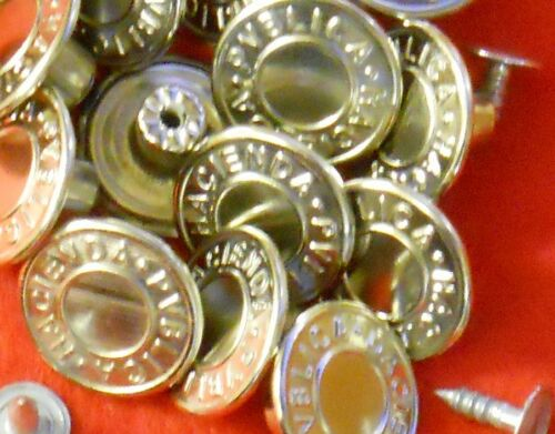 SILVER NO SEW HAMMER ON DENIM JEAN BUTTONS X 10 APPROX 20MM BRONZE OR COPPER