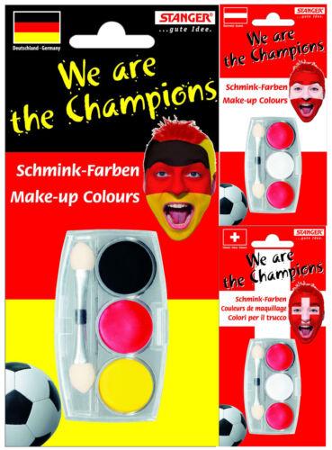 Schmink Farben Set Nationalfarben von D AT und CH