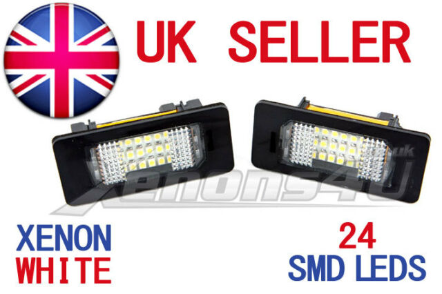 BMW LED REAR NUMBER LICENCE PLATE UNITS LIGHT BULBS LAMPS XENON WHITE ERROR FREE