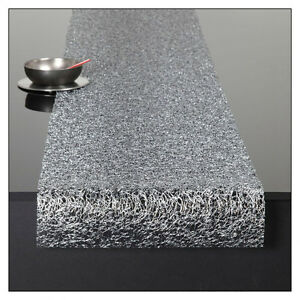 Image Is Loading Chilewich Metallic Lace 70 034 Table Runner Silver