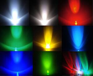100-St-Led-3mm-waehlbar-in-Farben-WEISS-WARMWEISS-ROT-GRUN-GELB-BLAU-RGB