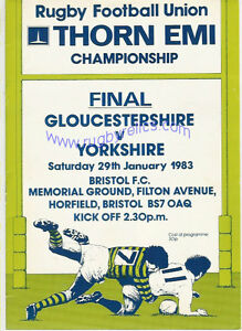 GLOUCESTERSHIRE-v-YORKSHIRE-1983-COUNTY-CHAMPIONSHIP-FINAL-RUGBY-PROGRAMME
