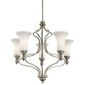 Kichler 42623ap ellerslie 5 light antique pewter chandelier image is loading kichler 42623ap ellerslie 5 light antique pewter chandelier aloadofball Images