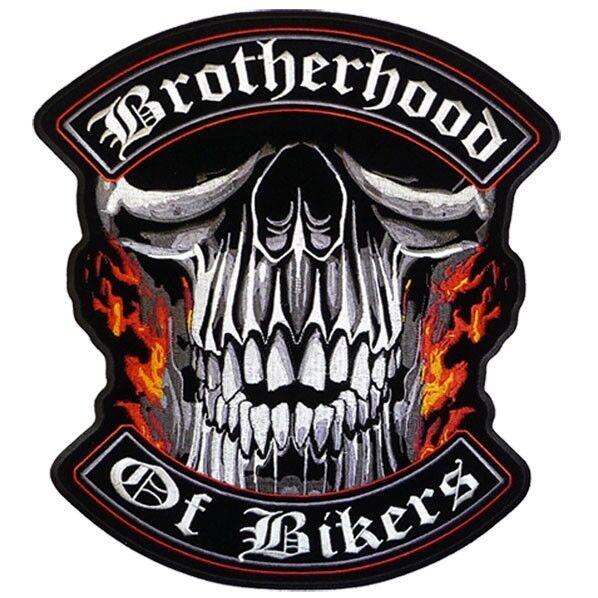 BROTHERHOOD OF BIKERS DELUXE BIKER PATCH  biker iron on