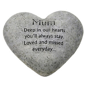 In-Loving-Memory-Graveside-Heart-Plaque-Stone-Mum-Grave-Memorial