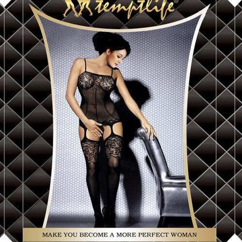 Hot Sexy Black Lingerie Fishnet Bodydoll Sleepwear Nightwear Tight Stocking 3011