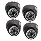 4 X Sony Ccd Vandal Ir Color Cctv Security Dome Camera D/n 24 Led 66 Ft 420tvl
