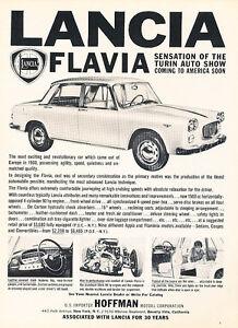 1961-Lancia-Flavia-Turin-Classic-Vintage-Advertisement-Ad-A83-B