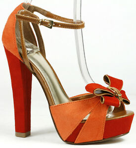 Vivid-Suede-Bow-Buckle-Sky-High-Covered-Platform-Chunky-Heel-Ankle-Strap-Sandal