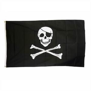 SKULL-amp-CROSSBONE-PIRATE-JOLLY-ROGER-LARGE-FLAG-5X3FT-5-039-X3-039-EYELETS-FOR-HANGING
