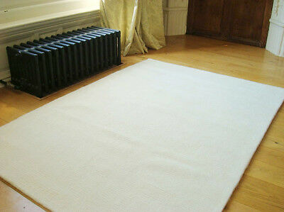 CREAM WOOL RUGS MODERN STRIPED SUPER SOFT SMALL LARGE AREA RUGS LOUNGE RUG
