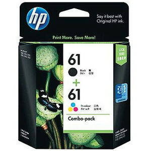 Genuine-Hp-61-Combo-pack-Ink-Cartridge-Retail-Box-Black-Tri-Color-for-3050A