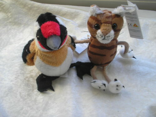 GOLDFINCH TOGETHER WITH OTHER ANIMALS FINGER PUPPETS NEW